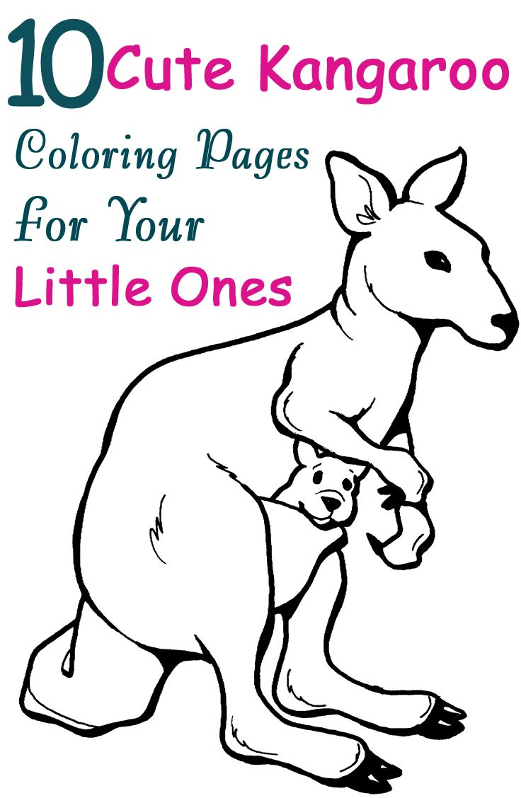 10 Cute Kangaroo Coloring Pages For Your Little Ones