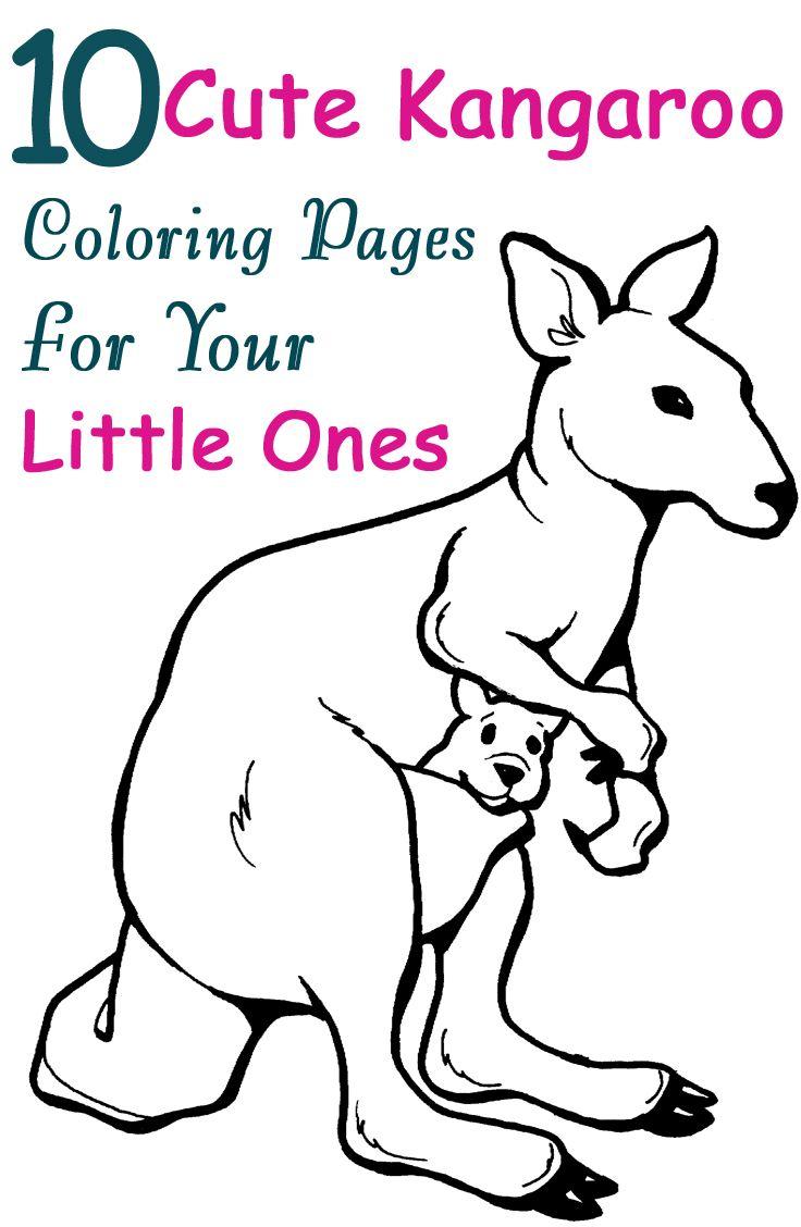 Top 10 Free Printable Kangaroo Coloring Pages Online Owl