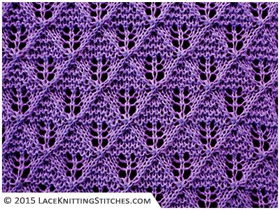 LACE KNITTING #2 | Lace Diamonds stitch - looks more complicated ...