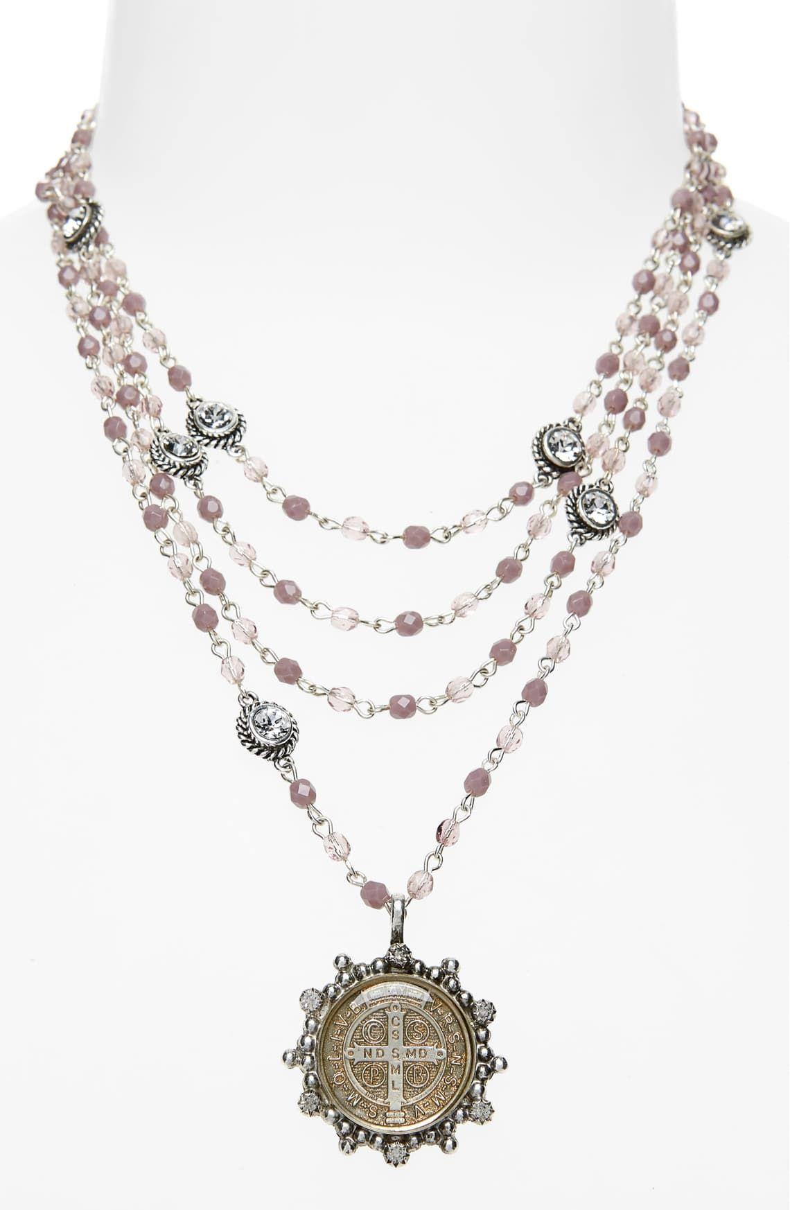 Virgins Saints & Angels San Benito Magdalena Rosary Necklace | Nordstrom
