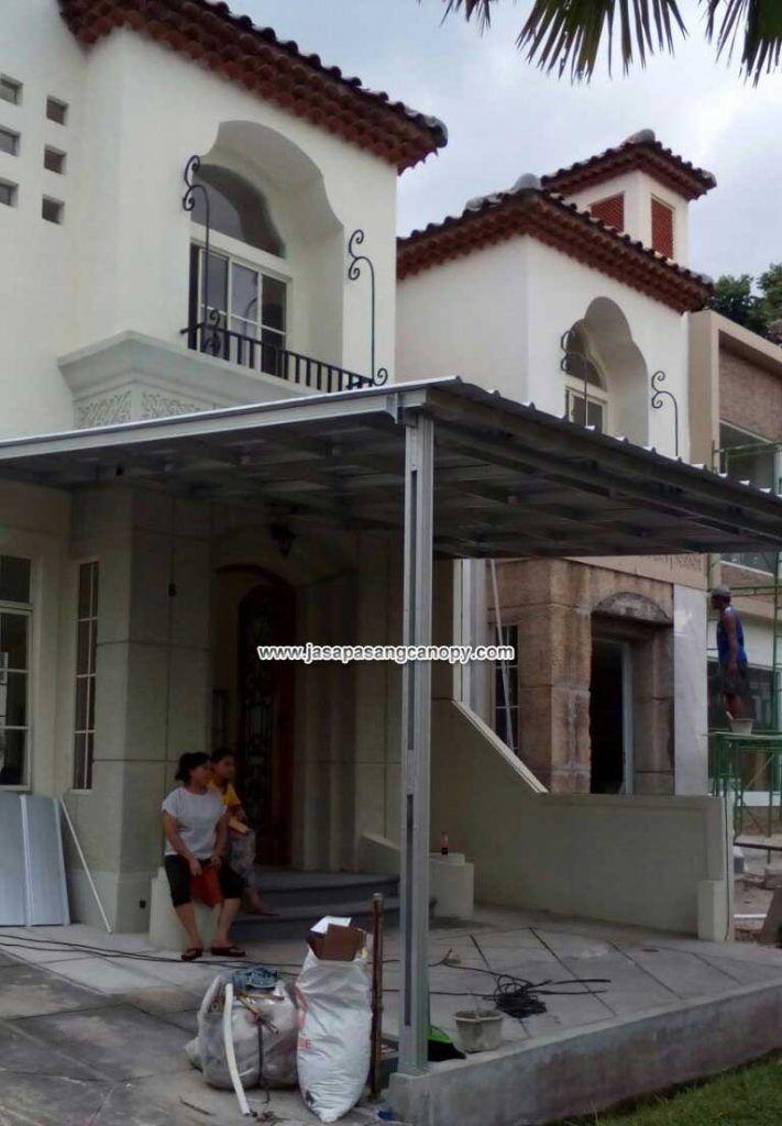 kanopi baja ringan tangerang atap spandek pemasangan di karawaci