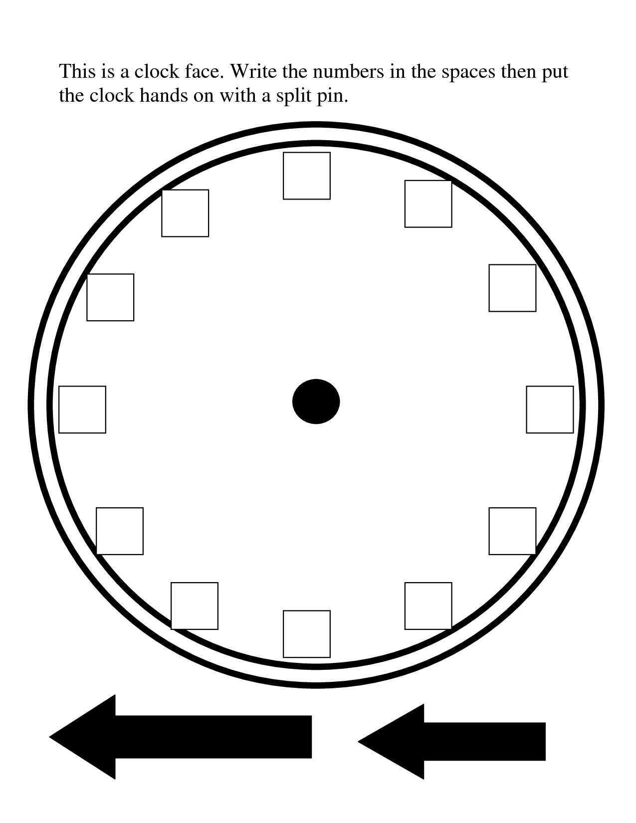 Image Result For Blank Clock Template Split Into 12 Blank Clock Clock Template Clock Face Printable