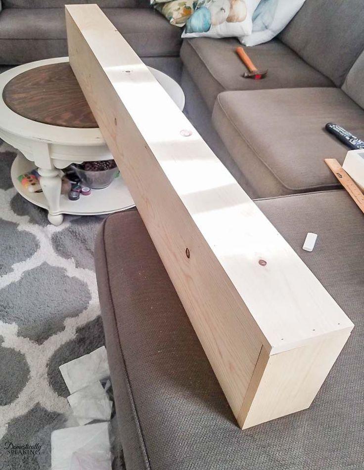 how to build a wood fireplace mantel shelf
