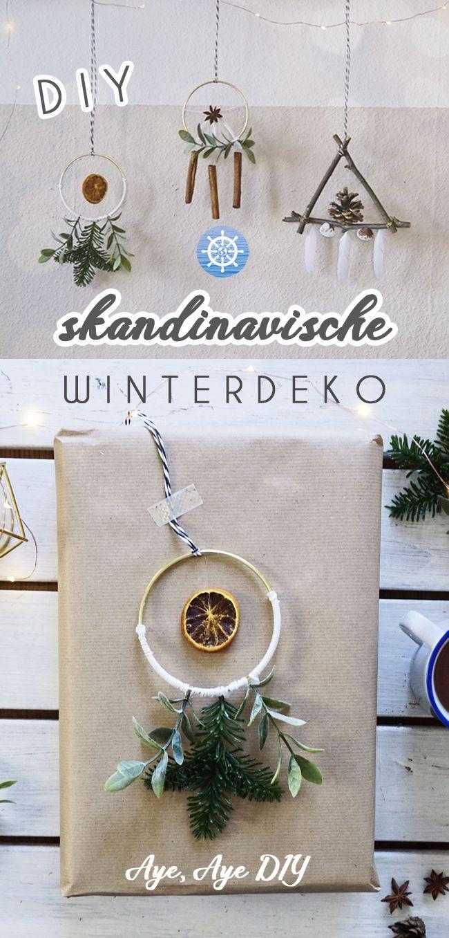 Skandinavische Weihnachtsdeko basteln im Boho Stil #geschenkeverpacken