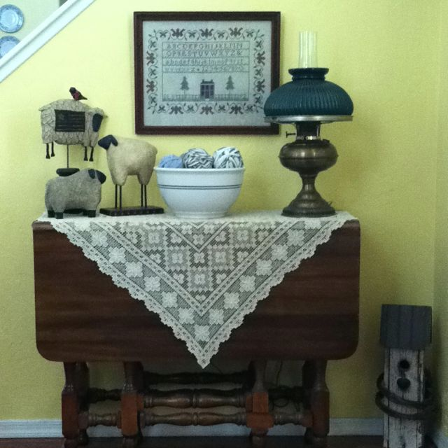 Vintage Style Entrance Hall: My Country Cottage Entrance Hall-counted Cross Stitch