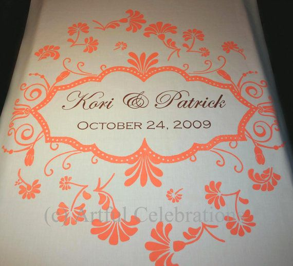 Wedding Aisle Runner Hand Painted  Deposit by ArtfulCelebrations, $100.00