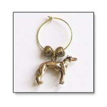 Whippet Wine Tags $14.99  Be the envy of your friends at your next gathering with these 24 karat gold-plated wine glass tags. Each person uses a different charm to distinguish his or her glass from the others. Each set of four charms includes your breed with three other canine related tags (selections vary). Ships from manufacturer may not be available for express shipping. Allow 7-10 days for delivery.