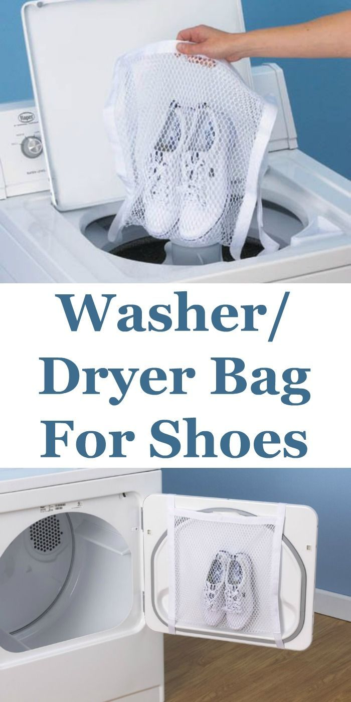 Washing And Drying Your Shoes Just Got A Lot Easier And Quieter Without All That Banging Around In The Drye Cleaning Hacks Deep Cleaning Tips Spring Cleaning