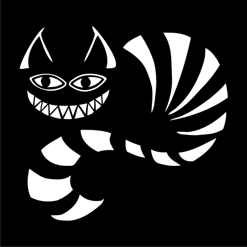 Smiling Cheshire Cat Vinyl Decal   Stick-Em-Up ...