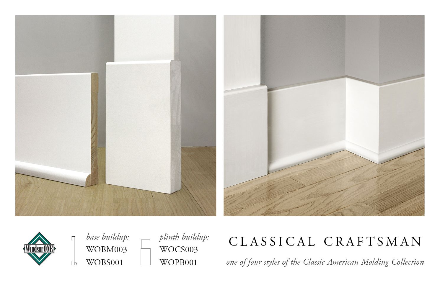 Classical Craftsman Moldings 20th Century Style Windsorone Baseboard Styles Moldings And Trim Baseboard Trim
