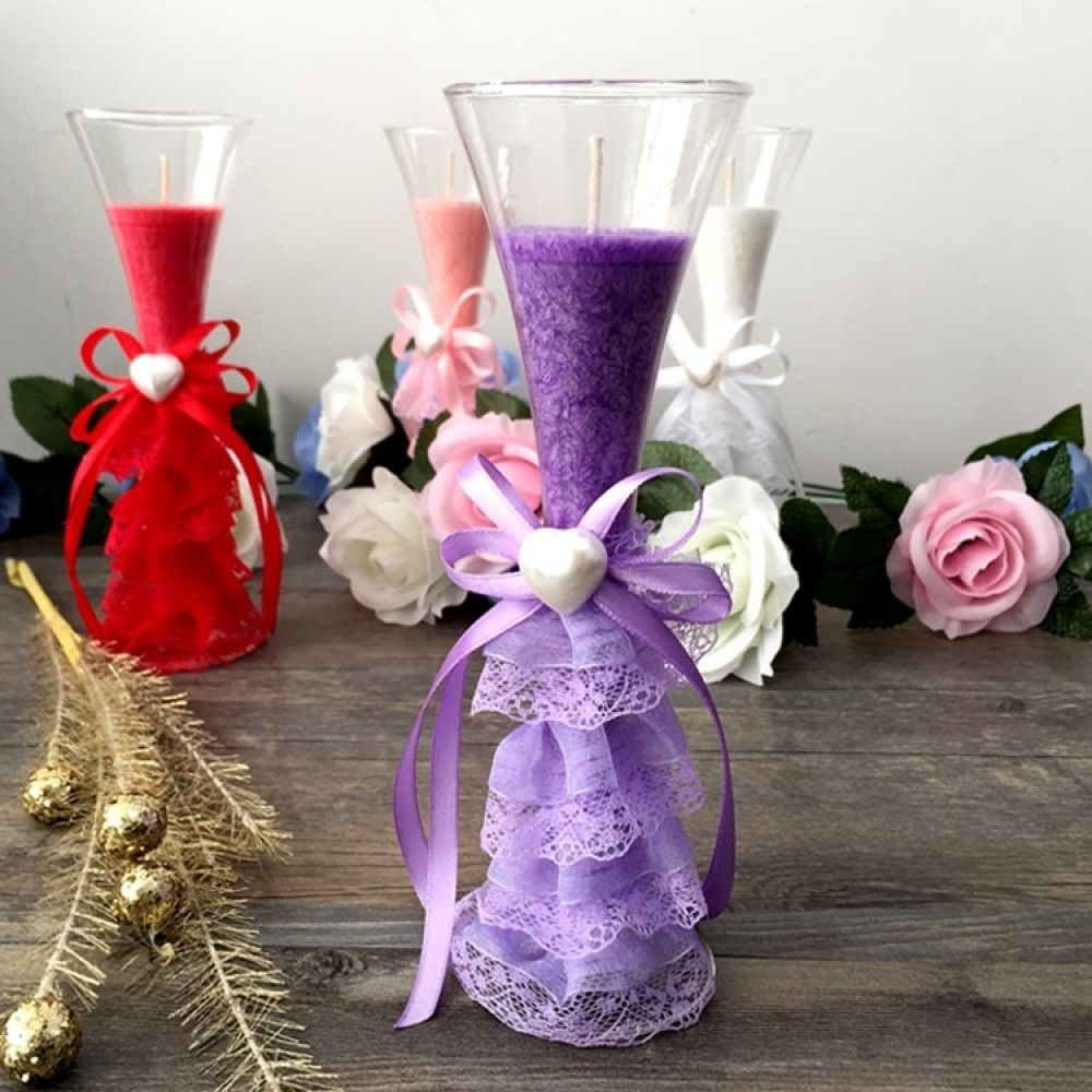 Jelly candle wedding marriage birthday gift in return