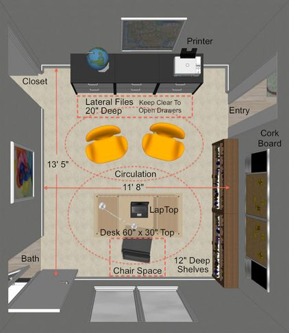 Key Measurements To Help You Design The Perfect Home Office Home Office Layouts Office Layout Plan Office Layout