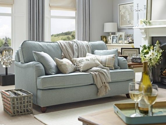 The Downton 3 Seater Sofa Bed Willow Hall Blue Sofas Living Room Duck Egg Blue Living Room Duck Egg Living Room