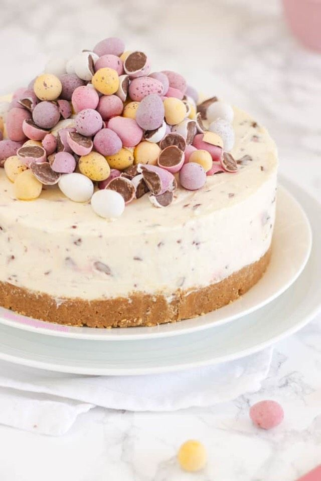 No Bake Mini Egg Cheesecake