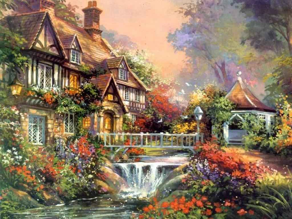 Arte Visual La Pintura Artes Visuales Pinturas De Thomas Kinkade Art Artists