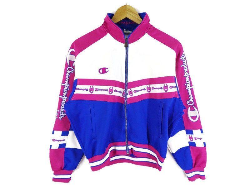 Champion Jacket Vintage Size Jaspo M Champion Windbreaker Vintage Champion Logo Hoodie Long Windbreaker Winter Jacket Size XL