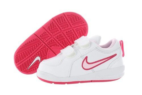 2b4a3d0db386 Nike Pico 4 (TDV) 454478-103 White Prism Pink Velcro Shoes Infant