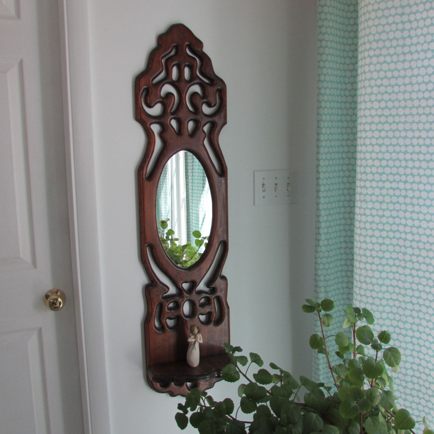 Mirror-Wood carved mirror with shelflarge mirrors carved by a2ndc