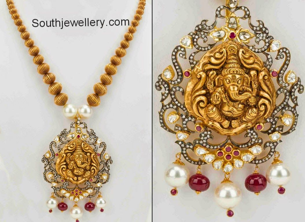 South jewellery temple necklace designs google search wedding antique ganesh temple jewellery pendants designs this is a beautiful piece that we really like and enjoy looking at mozeypictures Choice Image