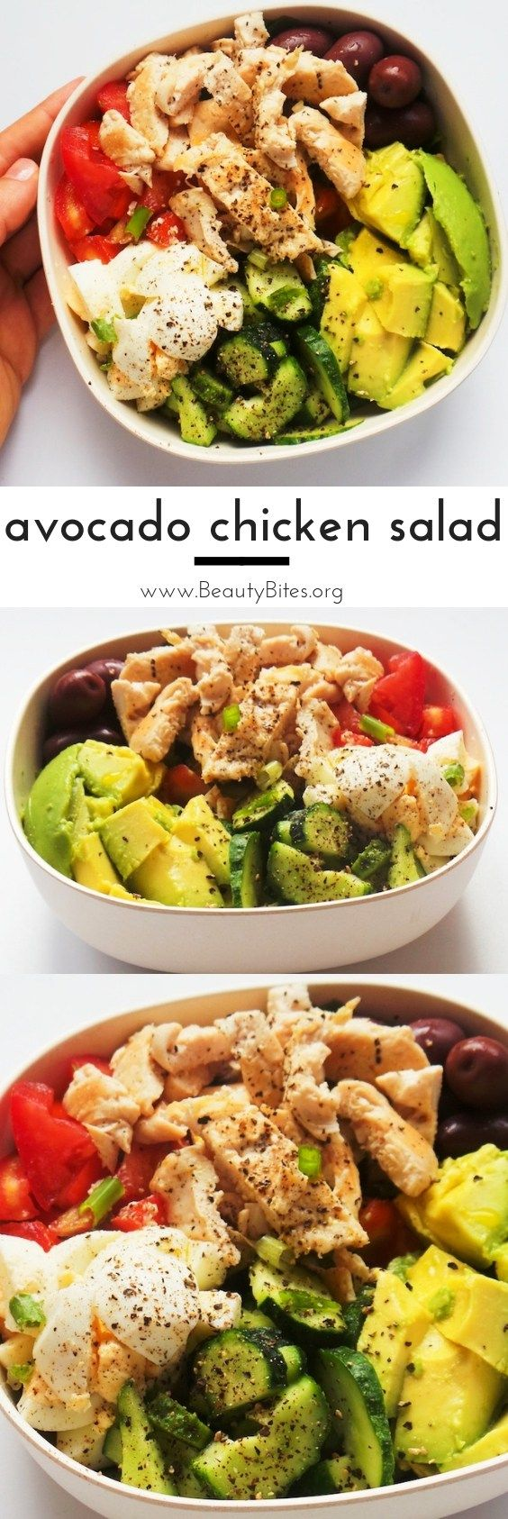 Healthy Avocado Chicken Salad Recipe | Low Carb + Meal Prep Option images