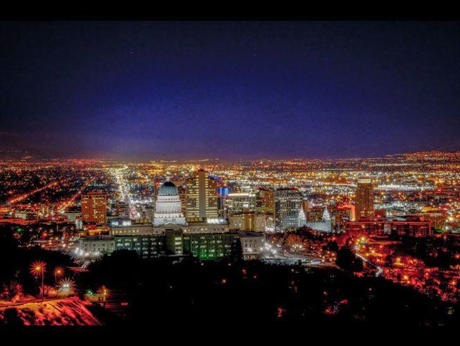 Salt Lake City at Night