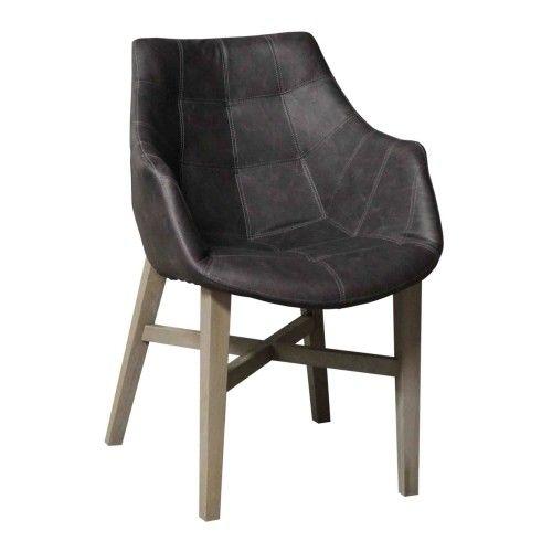 Eetkamerstoel neba stoel met armleuning en grijze poten for Eetkamerstoelen kuipmodel
