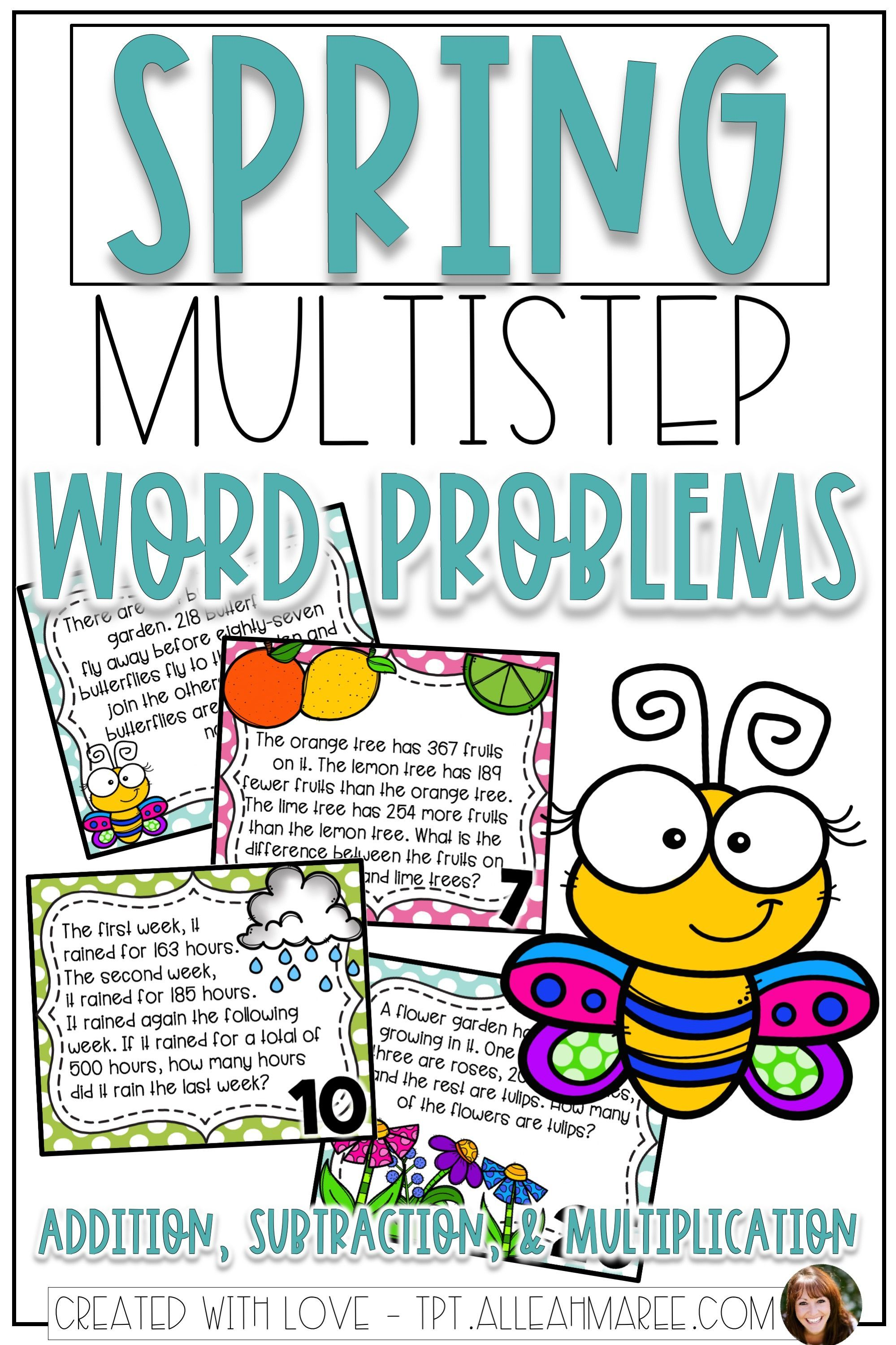 These Spring Task Cards Are Full Of Multistep Addition