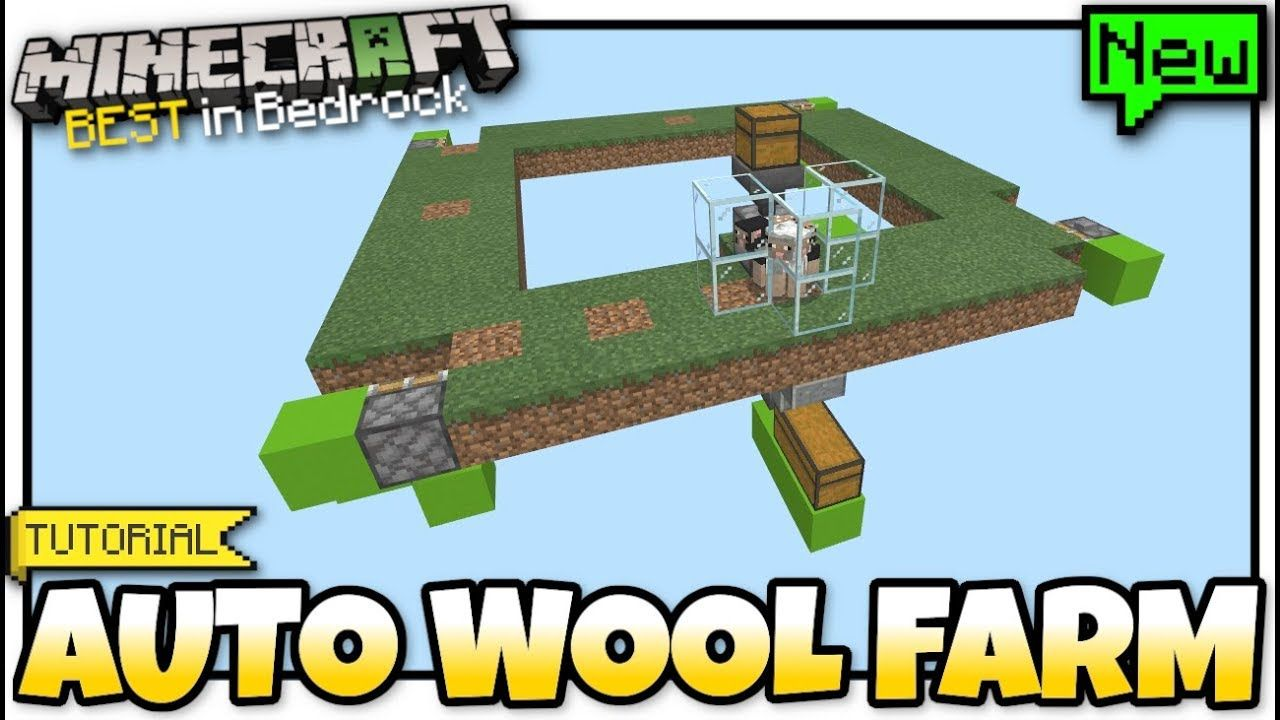 Minecraft Automatic Wool Sheep Farm Redstone Tutorial Mcpe Bed Minecraft Sheep Minecraft Minecraft Redstone Creations
