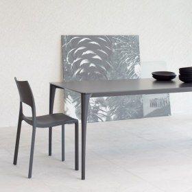 Sol – Tavolo in cristallo allungabile – Gambe alluminio - Bonaldo ...