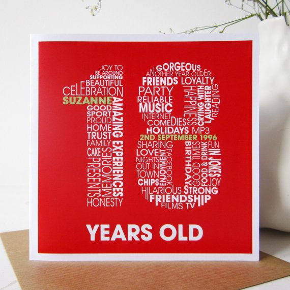 18th Birthday Personalized Cards