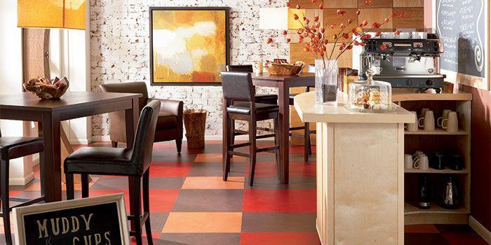 forbo marmoleum click eco friendly non toxic all natural linoleum - Linoleum Restaurant Interior
