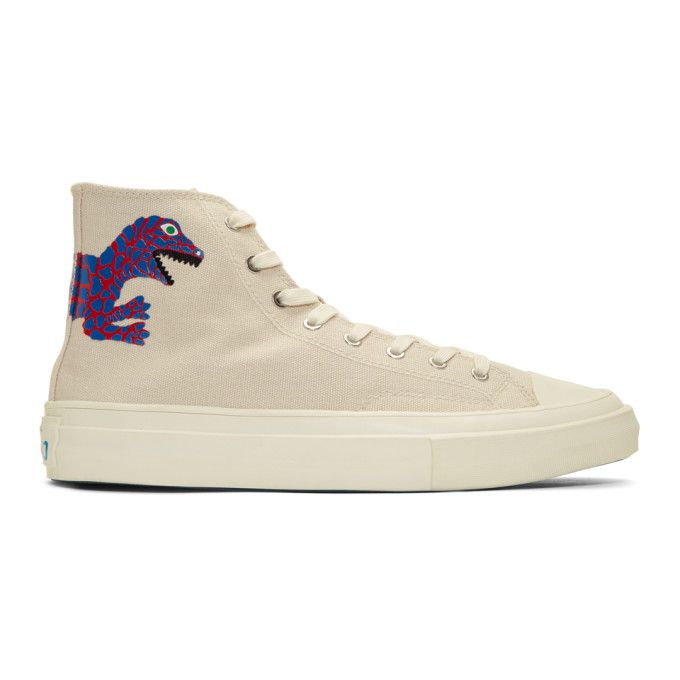 Off white Kirk Dino Sneakers In 04.dino | Converse chuck