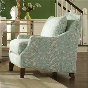 Accent Chairs Transitional Accent Chair With Nailhead Studded Camel Back By  Cozy Life At Gardiners