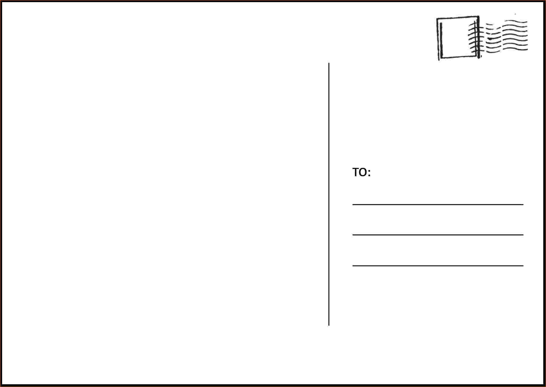 The Amusing 30 Ms Word Postcard Template Andaluzseattle Template