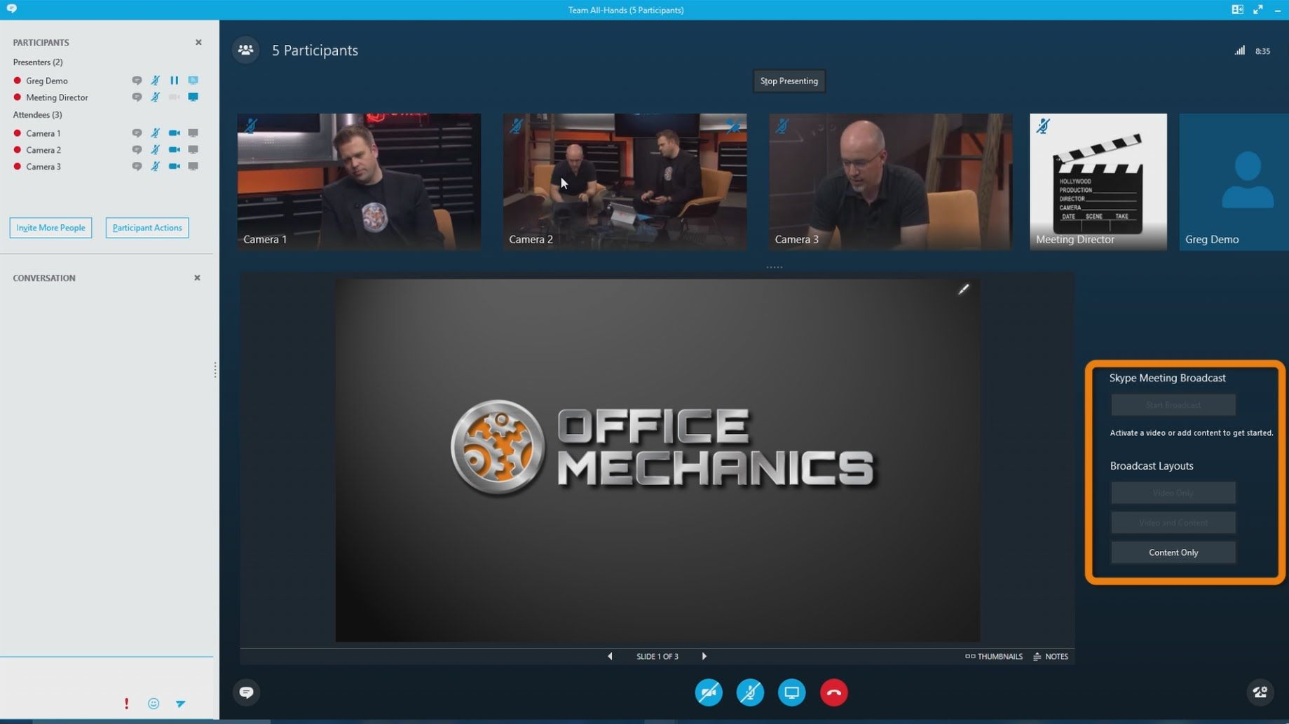 First look at Skype Meeting Broadcast Broadcast, Helping