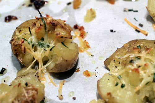 Crispy Smashed Potatoes Recipe....  Follow Cookin' Up Fun! on Pinterest -   http://pinterest.com/cookinupfun/
