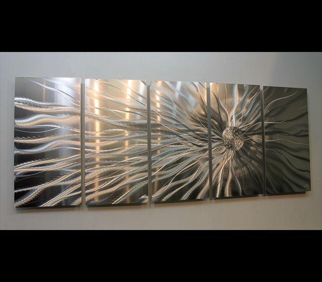 275 64 L X 24 H Conductivity Metal Abstract Modern Silver Wall Art Sculpture By Jon Allen Contemporary Metal
