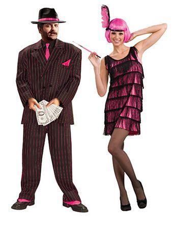 Womens Jazzy Hot Pink Flapper Costume Couple halloween, Flappers - hot halloween ideas