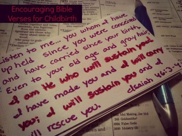 A list of Bible verses for encouragement during pregnancy