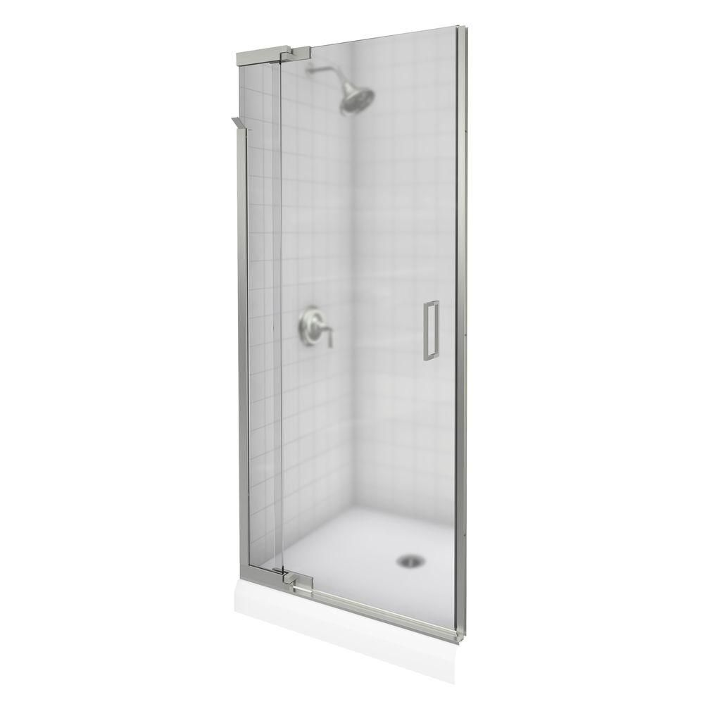 Kohler Purist 36 In X 72 In Heavy Semi Frameless Pivot Shower