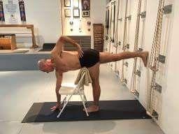 pinbeverley ross on chair yoga  yoga asanas relaxing