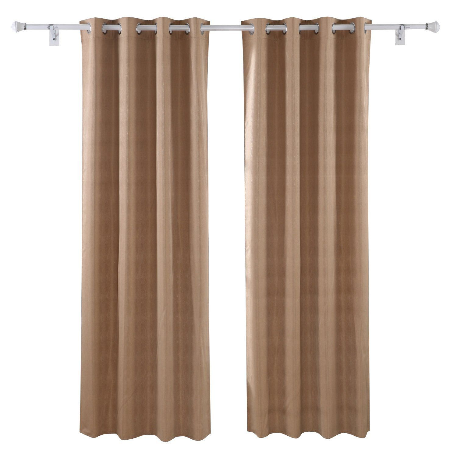 Blackout curtains for bedroom - Deconovo Wood Grain Thermal Insulated Eyelet Curtains Blackout Curtains For Bedroom With Coating Back Layer 46