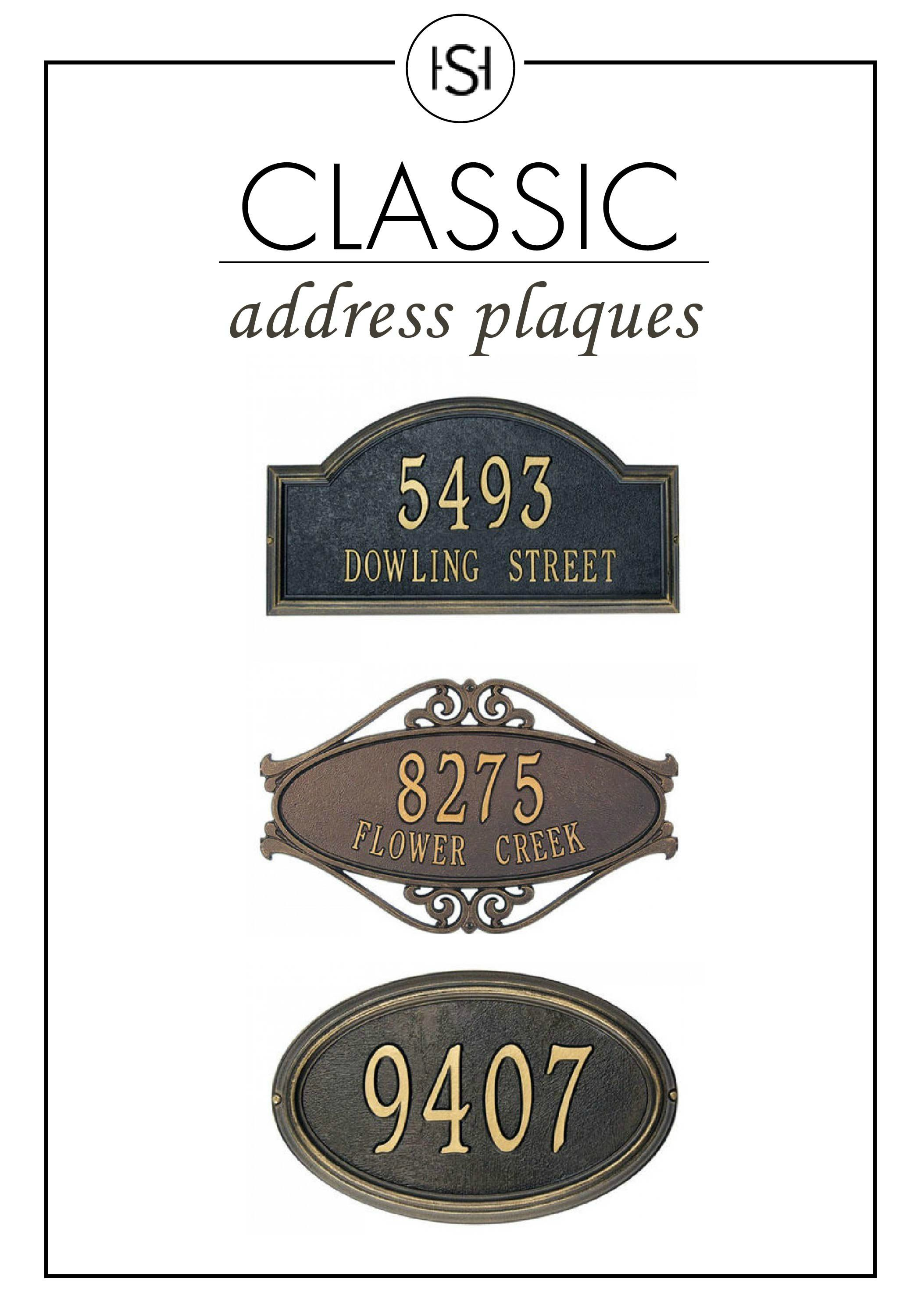 Plaque number house or mailbox outdoor ref 30 choice registration