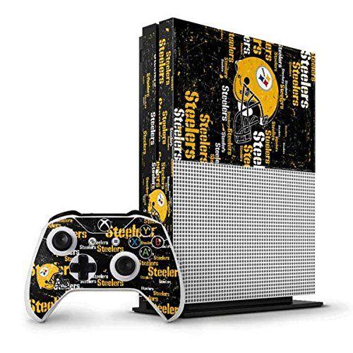 NFL Pittsburgh Steelers Xbox One S Vertical Bundle Skin - Pittsburgh  Steelers - Blast Dark Vinyl cf6c27bb7