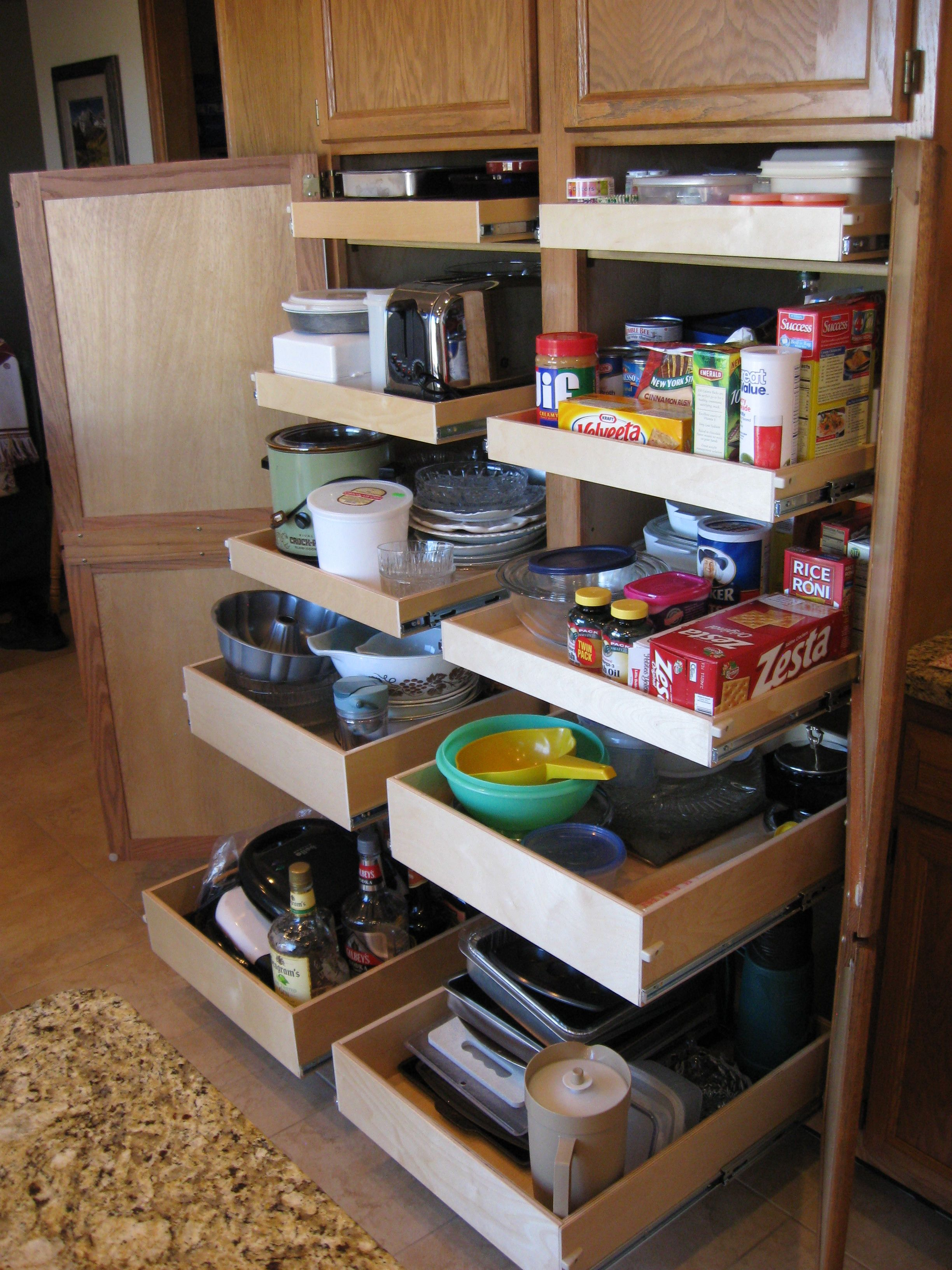 Pull Out Pantry Shelves Organize Everything No Pantry