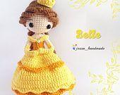 Princess Belle Inspired Crochet Doll Pattern (Amigurumi Doll Pattern / PDF Crochet Doll Pattern / English Pattern) #amigurumidoll
