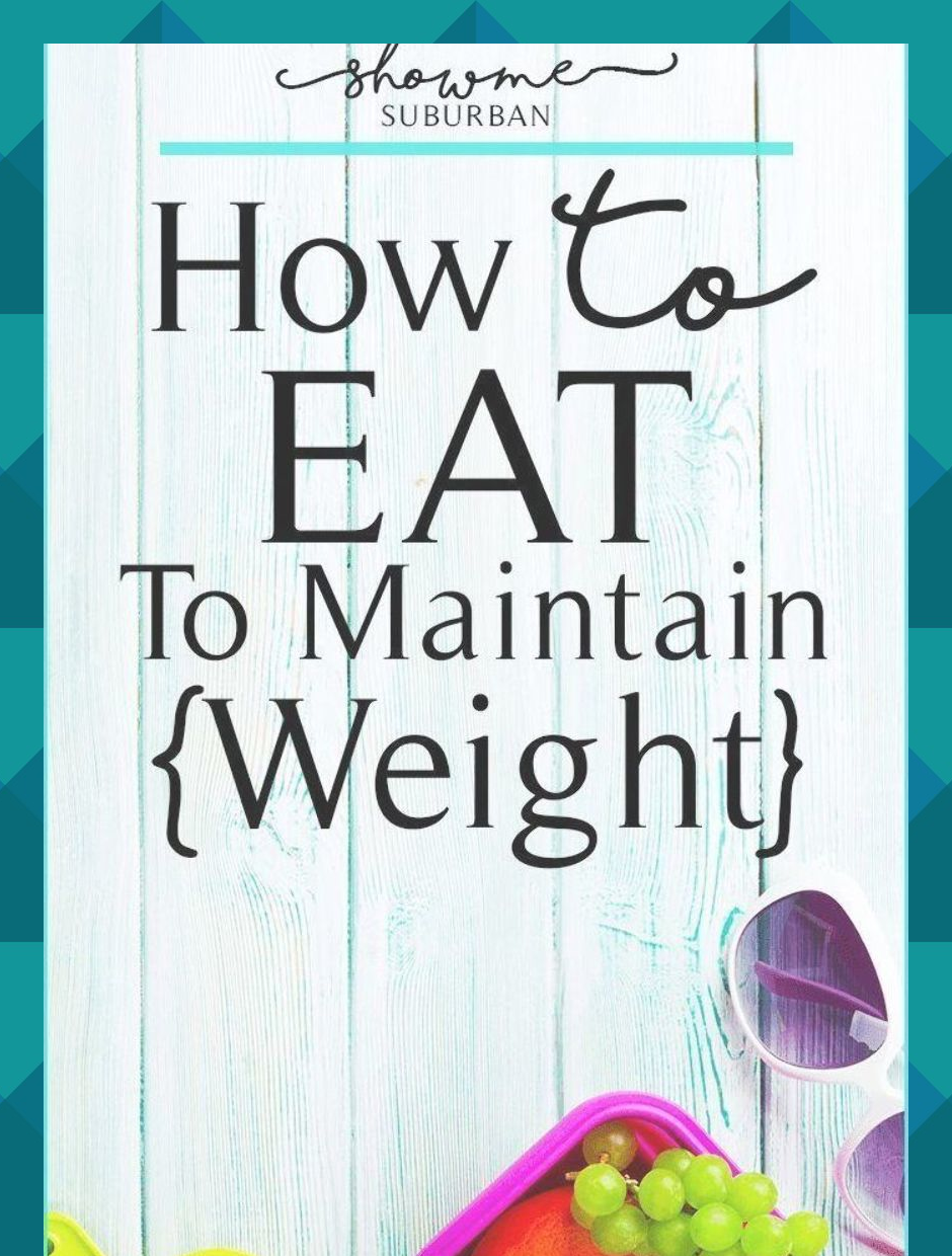 how to maintain weight after fad diet