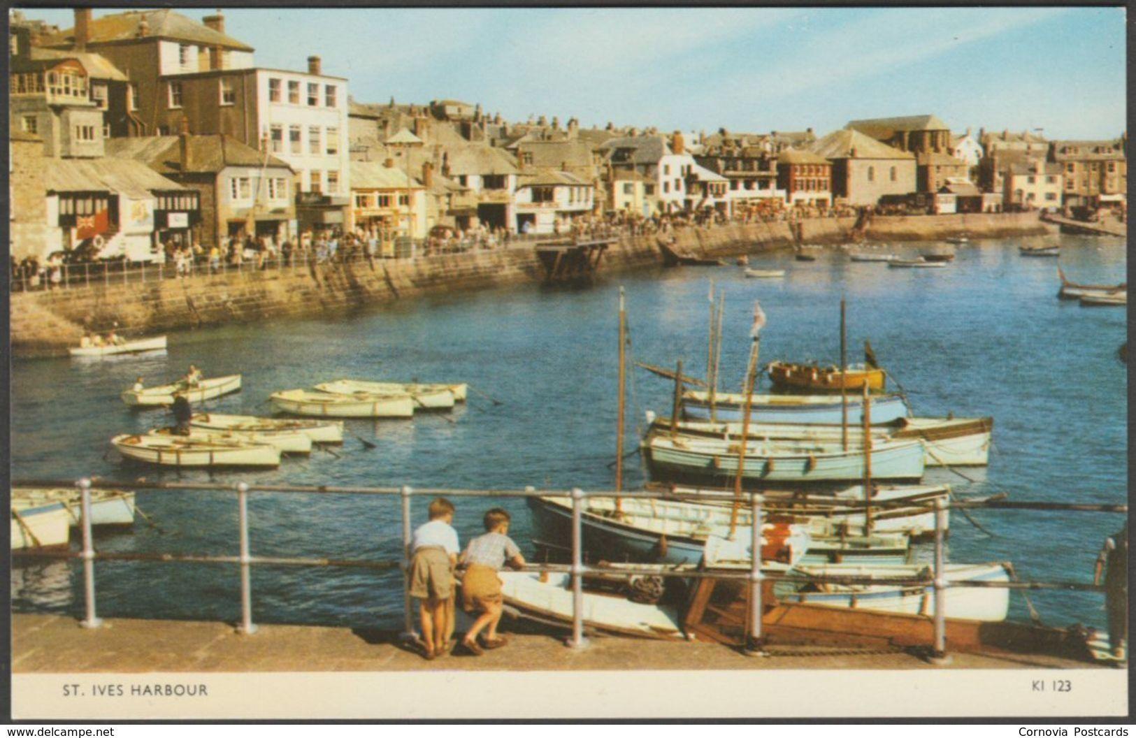St Ives Harbour, Cornwall, c.1960s - Jarrold Postcard
