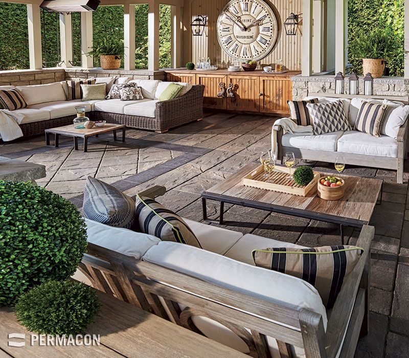 Une terrasse confortable en dalle Mondrian Plus Reno Ideas Pool