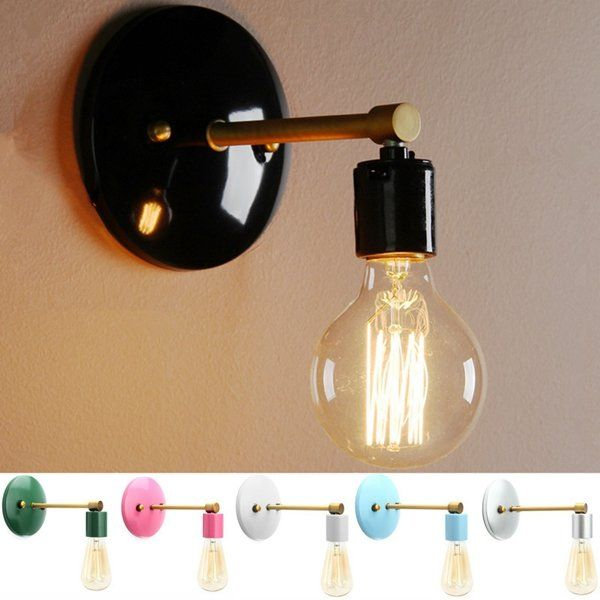 1 248 96 Loft Industrial Retro Vintage Sconce Wall Lamp Light Bulb Holder Bedroom Fixture Indoor Lighting From L Sconces Wall Lamps Vintage Sconce Wall Lamp